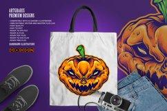 Halloween Skull Monster Carved Mascot Product Image 6