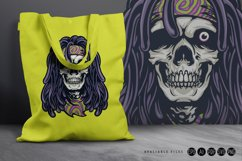 Psychedelic Skull Rasta Character SVG Illustrations Product Image 3