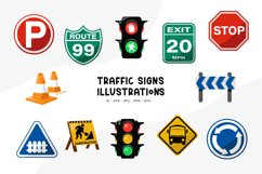 Traffic Signs Illustrations Product Image 1
