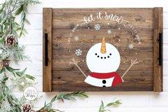Let It Snow SVG | Christmas Snowman Design Product Image 4
