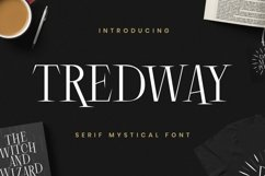 Web Font Tredway Product Image 1