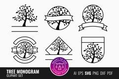 Tree Monogram Clipart Set Product Image 1