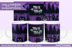 Trick or Treat Halloween Sublimation Wrap for mugs in purple