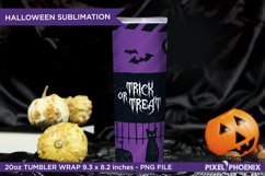 Halloween Sublimation Wrap for skinny tumbler in purple