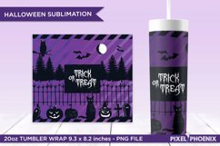 Trick or treat Sublimation Wrap for skinny tumbler in purple