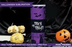Halloween Sublimation Wrap for skinny tumbler, 20oz Tumbler Product Image 3