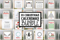 20 Christmas Countdown, Advent Calendar SVGs, Xmas countdown Product Image 1