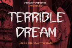 Terrible Dream - Horor & Scary Font Product Image 1