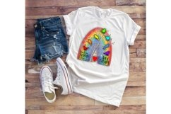 Don't Be Afraid True Colors - A Rainbow Sublimation PNG File Product Image 2