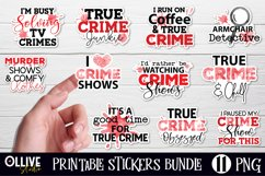 True Crime stickers Bundle | Murder Shows Printable Stickers Product Image 1