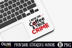 True Crime stickers Bundle | Murder Shows Printable Stickers Product Image 2
