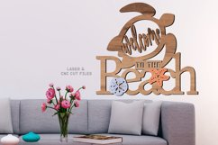 Welcome To The Beach Turtle Sign SVG Glowforge Laser Files Product Image 2