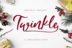 Web Font Twinkle - A christmas Font Product Image 1