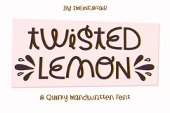 Twisted Lemon, a quirky handwritten craft font Product Image 1
