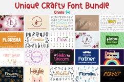 Unique Craft Font Bundle | Dingbat & Display font Product Image 1