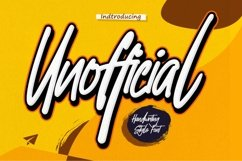 Unofficial - Authentic brush font Product Image 1