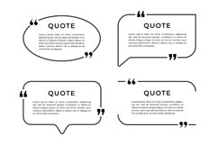 Set of speech bubble template with quote and frame design Product Image 1