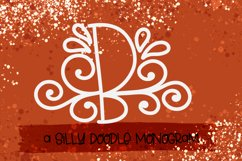 A Silly Doodle Monogram Monoline Product Image 3