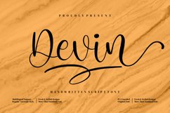 Devin _ Handwritten Script Font Product Image 1
