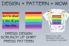 Faux Tie Dye Sublimation t shirt design Pride Rainbow PNG Product Image 3