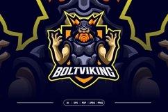 Bolt Viking Awesome Mascot Logo Template Product Image 1