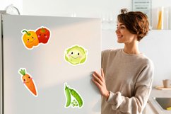 Funny cartoon Vegetables png, vegetables stickers. Product Image 3