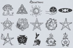 Halloween SVG Bundle | Wicca Witch SVG Bundle with Pentacles Product Image 6