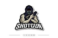 Shotgun Mask Mascot Esport Logo Product Image 1