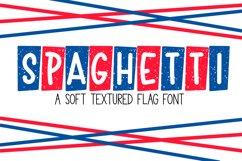 Spaghetti - A Textured Flag Font Product Image 1