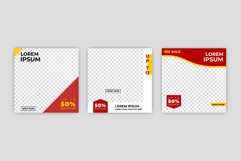 Modern Social Media banner template can be edited. Product Image 1