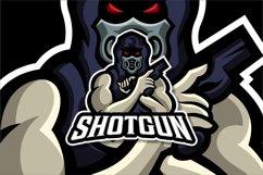 Shotgun Mask Mascot Esport Logo Product Image 2