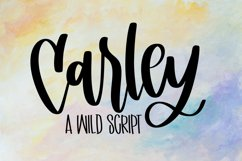 Carley - A Hand Lettered Script Product Image 1