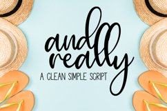 And Really - a simple, tall script with clean lines Product Image 1
