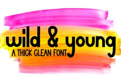 Wild and Young - A Simple, Thick, Clean, Craft Ready Font Product Image 1