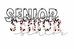 Senior, Cheetah Print, Graduation, SVG, PNG, DXF Product Image 2