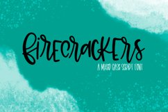 Firecrackers - A Scripty Mixed Case Font Product Image 1