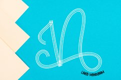 Lined Monogram Font Product Image 3