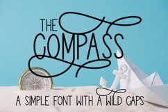 The Compass - A Simple Font With Wild Caps Product Image 1