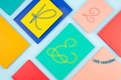 Lined Monogram Font Product Image 2
