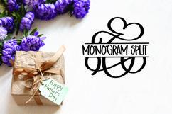 Split Monogram Font Set Product Image 2