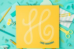 Lined Monogram Font Product Image 4