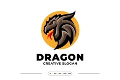 Dragon Mascot Logo Template Product Image 1