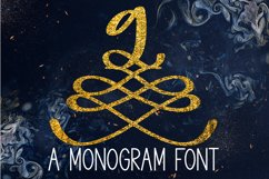 A Formal Monogram Font - Initials For Wedding Product Image 1