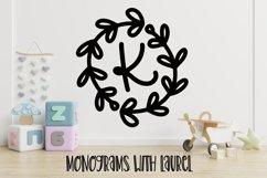 A Round Laurel Font - A Monogram Font Product Image 1