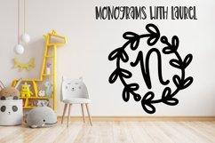 A Round Laurel Font - A Monogram Font Product Image 2
