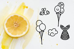Big Doodle Font For Word Art - Dingbat Font Product Image 2