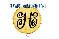 A Swirly & Sweet Monogram Font Product Image 1