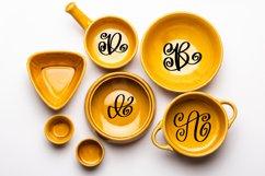 A Swirly & Sweet Monogram Font Product Image 2