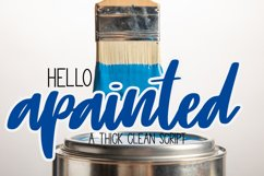 apainted - A thick clean script Product Image 1