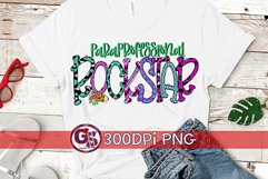 Paraprofessional Rock Star PNG For Sublimation | Para PNG Product Image 1